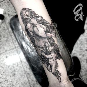 Afrodite. #GustavoAbreu #blackwork #fineline #sketch #TatuadoresDoBrasil #afrodite #deusas #goddess