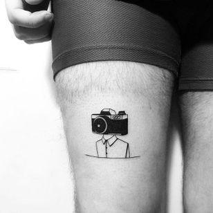 Photography tattoo by Yi Stropky. #photography #camera #photo #photographer #contemporaryart #folktraditional