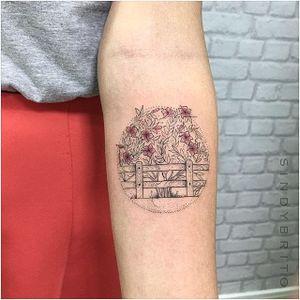 Flower tattoo by Sindy Brito. #SindyBrito #fineline #subtle #flower