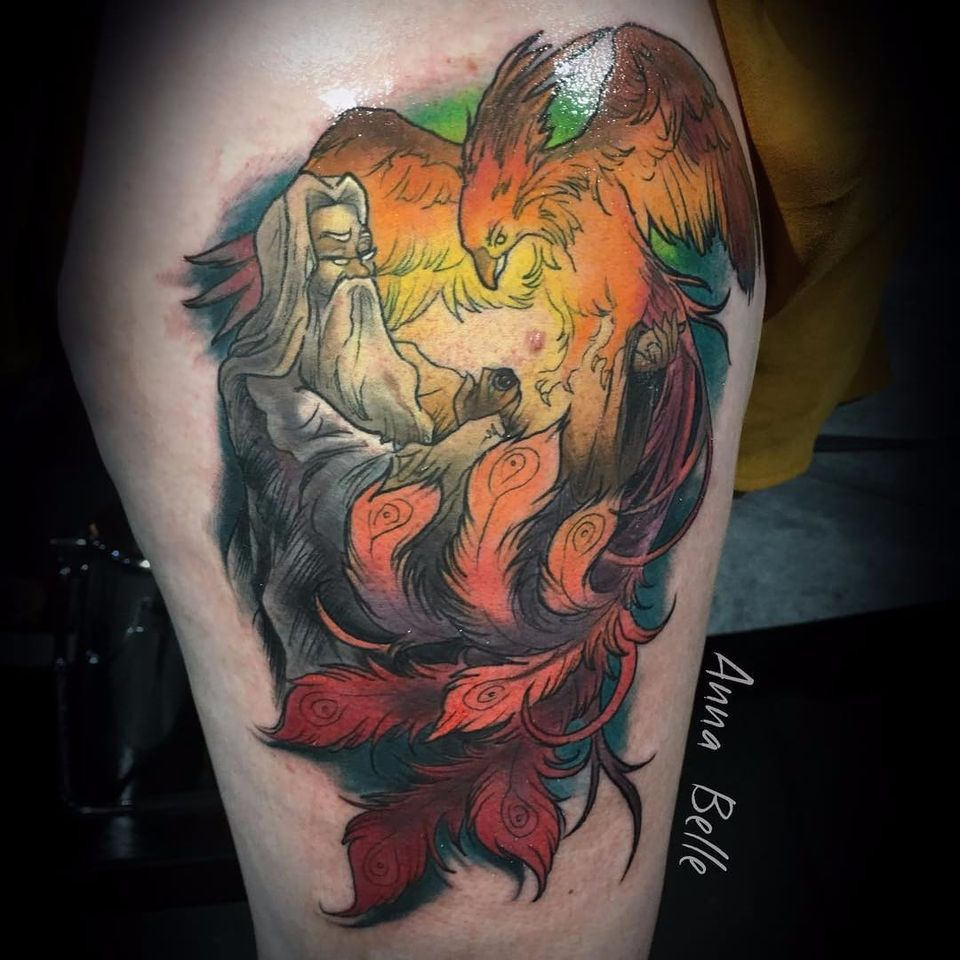#dumbledore by @anna_belle_tattoo (Anna Belle) #harrypotter