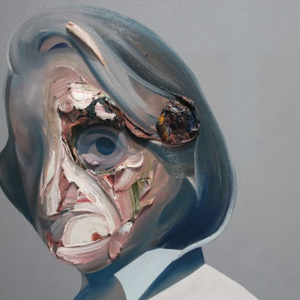 "Ryan Hewett's ""Gordimer I"" at Volta NY (Photo by KD Diamond) #ArmoryArtsWeek #Art #NYC #Painting"