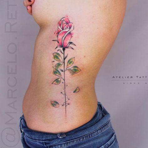 Rosa por Marcelo Ret! #MarceloRet #TatuadoresBrasileiros #TatuadoresdoBrasil #TattooBr #TattoodoBr #watercolor #aquarela