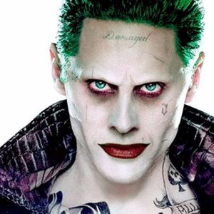 Will Leto rock his own 'Damaged' tattoo? #joker #jokertattoos #jaredleto #jaredletotattoo #30secondstomars #celebrity #celebtattos #facetattoos