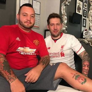 Wayne Ryan and his Liverpool tattoo. #LiverpoolFC #Liverpool #Manchester #ManchesterUnited #Soccer #FootballClubs