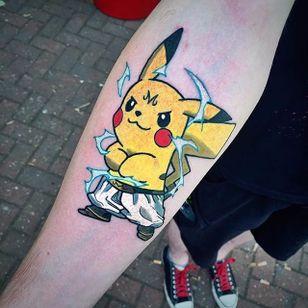 Majin Pikachu Tattoo by Josh McAllister #maijin #pikachu #pokemon #pokemongo #pokemonart #popculture #JoshMcAllister