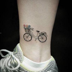 Bike tattoo by Bona Sunama. #bike #fixie #biker #cyclist #biking #sport #subtle #girly