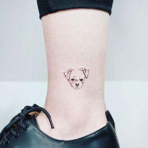 Puppy face. (via IG - tattooist_ida) #micro #Ida #TattooistIda #Mini #dog #Puppy