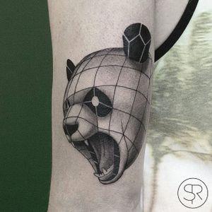 Panda by Sven Rayen (via IG-svenrayen) #geometric #blackandgrey #animal #panda #illustrative #svenrayen