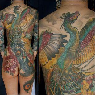 Phoenix Back Tattoo by Steve Moore #back #backtattoo #backpiece #largetattoos #bigtattoos #SteveMoore