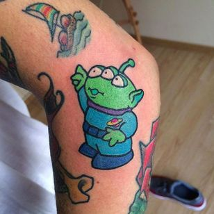 Kawaii Alien from Toy Story Tattoo by Maria Truczinski #MariaTruczinski #Cartoon #Kawaii #Cartoontattoo #Kawaiitattoo #Toystory #Alien