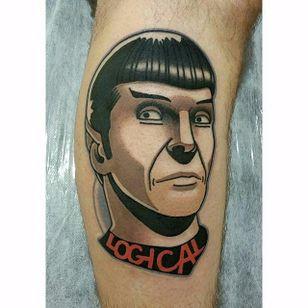 Spock tattoo by bk_tats on Instagram. #spock #leonardnimoy #startrek #scifi #portrait