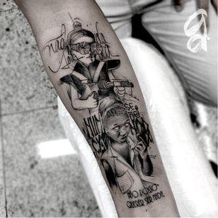 Consciência negra. #GustavoAbreu #blackwork #fineline #sketch #TatuadoresDoBrasil #consciencianegra #oculos #glasses #lettering #quote #frase