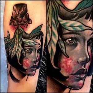 Mathilda portrait by Varo Tattooer #mashup #Mathilda #Leon #LeonTheProfessional #portrait #VaroTattooer