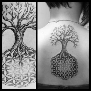 #arvore #tree #CacoMenegaz #TatuadoresDoBrasil #mandala #pontilhismo #dotwork #blackwork #brasil