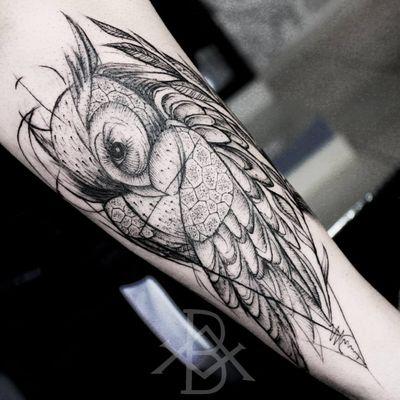 Coruja blackwork #BrunoAlmeida #tatuadoresdobrasil #tatuadoresbrasileiros #tatuadoresbr #blackwork #sketch #owl #coruja