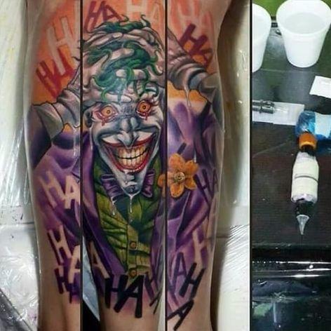 Killing Joke Tattoo by Anthony Gustavo Stark #thekillingjoke #killingjoke #batman #batmanjoker #joker #dccomics #comicbook #AnthonyGustavoStark