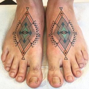 Folk-art inspired ornamental tattoos by Winston Whale. #WinstonWhale #winstonthewhale #folk #folkart #contemporary #trippy #ornament