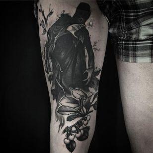 Dementor Tattoo by Tyler Allen Kolvenbach #Dementor #DementorTattoo #HarryPotterTattoos #HaryPotterTattoo #HarryPotterInk #TylerAllenKolvenbach #blackwork