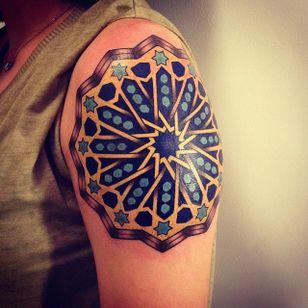 #mandala #LuizaFortes #tatuagensColoridas #colorful #fineline #traços #minimalista #artistaNacional #brasil