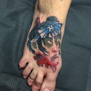 Namakubi Tattoo by Acetates #Namakubi #Japanese #severedhead #Acetates