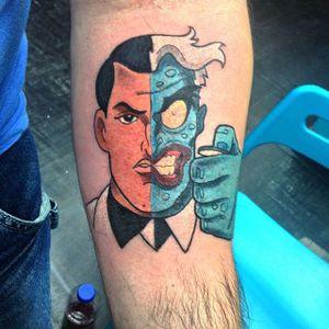 Two Face Tattoo by Magie Serpica #TwoFace #Batman #DCComics #MagieSerpica