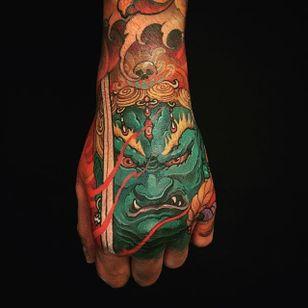 Fudo Myoo Tattoo by Tristen Zhang #fudomyoo #japanese #neotraditional #neotraditionaljapanese #japaneseart #TristenZhang