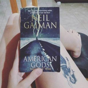 American Gods cuddled next to the reader's Death tattoo (via IG—hexlight160) #NeilGaiman #AmericanGods #Death #TheSandman