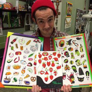 Kane Berry with his sweet flash sheets! #KaneBerry #flash #flashsheet #halloween #strawberries #FoodTattoos