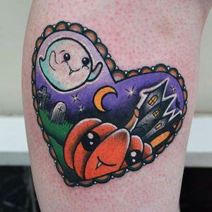 Halloween mood, by German Ferreiroa #GermanFerreiroa #ghost #heart #pumpkin #hauntedhouse