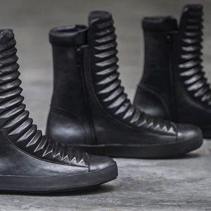 Leather Sneakers by Heathen Clothing (via IG-heathenclothing) #clothing #designer #menswear #genderneutral #indiedesigner #heathenclothing