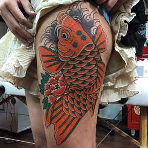 Koi Tattoo by Monta Morino #koi #koitattoo #japanese #japanesetattoo #japanesetattoos #asian #asiantattoos #japanesetattooartist #traditionalajapanese #japaneseimagery #MontaMorino