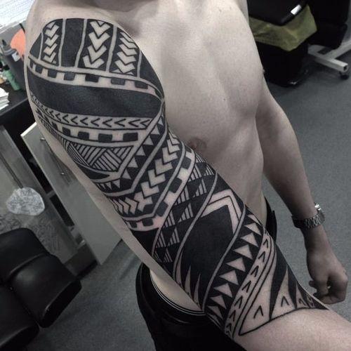 Tribal Tattoo by Daniel Frye #tribal #tribaltattoo #tribaltattoos #tribalart #traditionaltribal #polynesian #polynesiantattoo #patternwork #patternworktattoo #DanielFrye