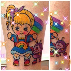 Rainbow Brite Kewpie Doll Tattoo by Cass Bramley #kewpiedoll #kewpie #CassBramley #RainbowBrite #cartoon #Twink