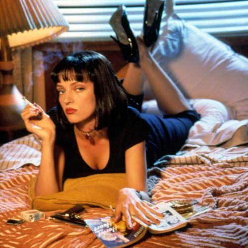 Uma Thurman as Mia Wallace on 'Pulp Fiction' – Miramax Films. #pulpfiction #quentintarantino #urmathurman #miawallace