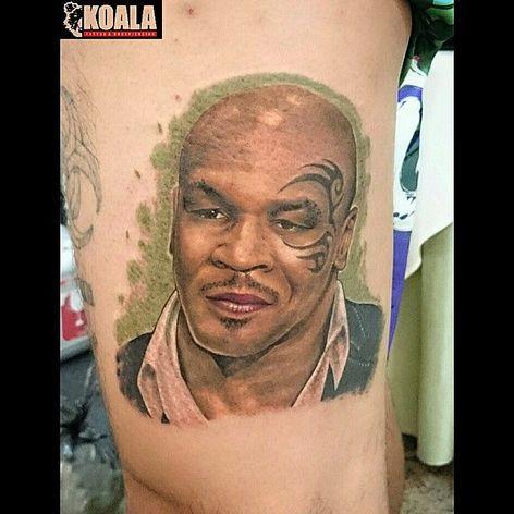 Mike Tyson Tattoo by Koala Studio #MikeTyson #MikeTysonTattoo #BoxingTattoo #SportTattoos #Portrait #KoalaStudio