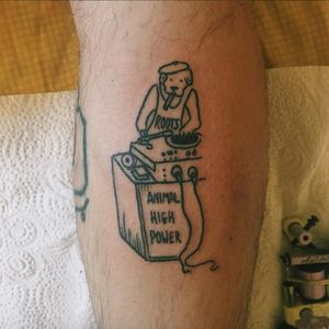 Awesome DJ tattoo, Roots Animal high power. #rottenkiwii #linework #dog #animal #dj #funny #simple