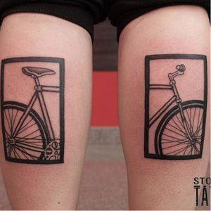 Bike tattoo by Stoznia. #bike #fixie #biker #cyclist #biking #sport