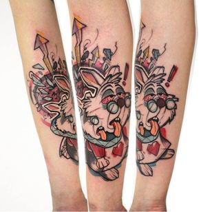 Alice in Wonderland tattoo by Mirco Campioni #MircoCampioni #graphic #aliceinwonderland #disney