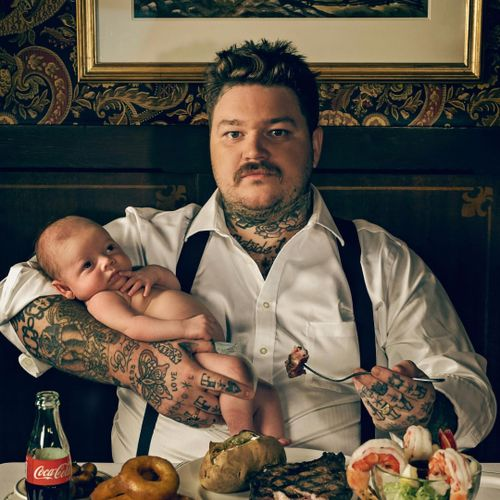 Matheson and his son post for Toronto Life. #MattyMatheson #VICE #DeadSetOnLife