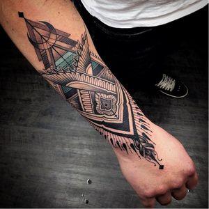 Ornamental tattoo by Pedro Contessoto #PedroContessoto #ornamental