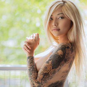 Model Cassie V. (Photo by Steve Bitanga.) #CassieV #CassieTrinhVo #tattoomodel #tattooedmodel #model #wcw #womancrush #gorgeous