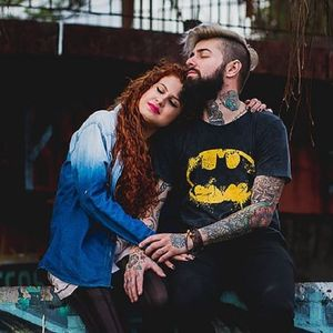 #CasalTatuado #TaináCastelloBranco #WilliamPeck #amor #love #TattooedCouple