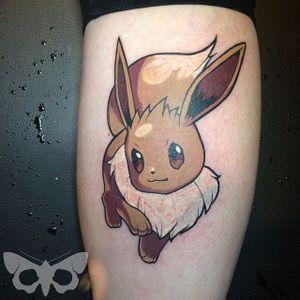 Eeevee tattoo by Josh Keyser. #pokemon #eevee #cute #critter #anime #videogames #kawaii
