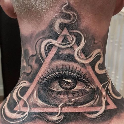 Relistic eye by Ricky Lopez #RickyLopez #blackandgrey #eye #realism #illuminati #tattoooftheday