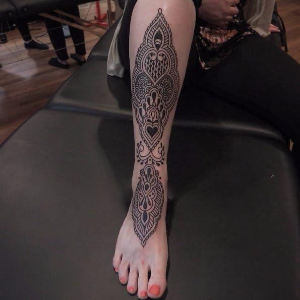 Mehndi tattoo by Antti Kuurne #AnttiKuurne #blackwork #ornamental #ethnic #pattern #mehndi
