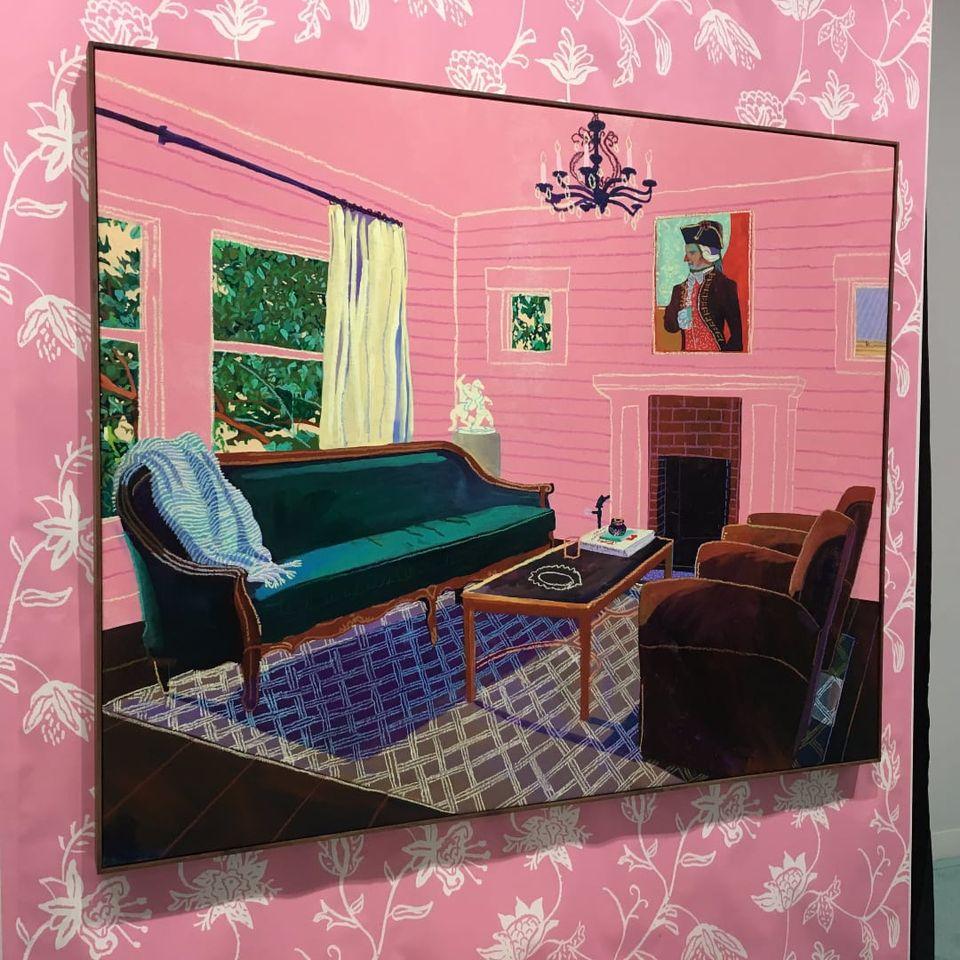 Andy Dixon at Volta NY (Photo by KD Diamond) #ArmoryArtsWeek #Art #NYC #AndyDixon #Painting