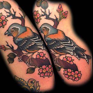 Beautiful bird #MyraBrodsky #neotraditonal #bird #colors
