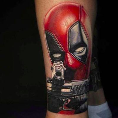 Deadpool portrait by Nikko Hurtado (via IG -- nikkohurtado) #nikohurtado #deadpool #portrait