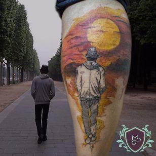 Retrato estilizado. #AndreMelo #tatuadoresdobrasil #sketch #portrait #retrato #colorido #colorful #sol #sun