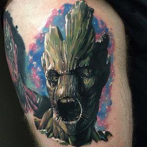 Groot Tattoo by Kristian Kimonides #groot #groottattoo #groottattoos #guardiansofthegalaxy #guardiansofthegalaxytattoo #disney #marvel #marveltattoo #movietattoo #movietattoos #filmtattoo #KristianKimonides